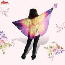 SÄRSKILD 120 * 70 cm Wing kostym festklänning för barn cosplay fjäril vingar cape mask födelsedagspresenter för flickor leksaker