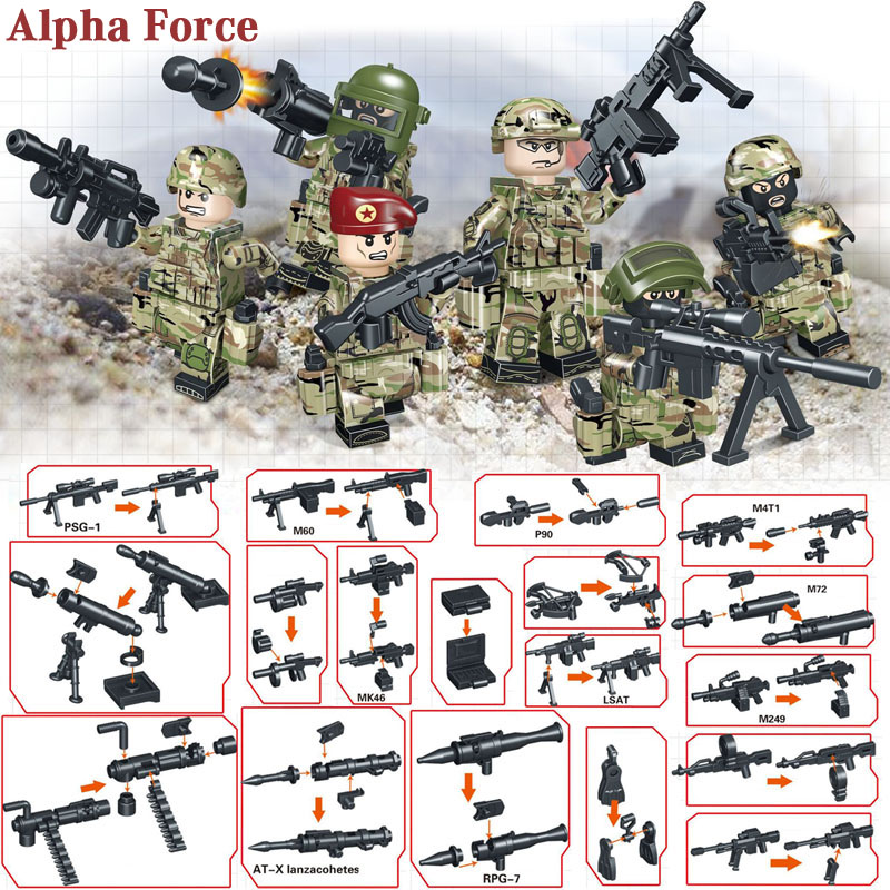 Kitoz Brick Compatible Toy Lego-Toy Figure-Set Building-Block Military-Soldier Russian