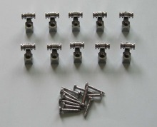 Pack of 10 Guitar String Retainer Guitar Roller String Trees Chrome