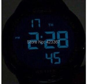 Image 2 - Erkek spor saat Dijital Su Geçirmez 100m Yüzme Izle led ışık Chronograph İşlevli Dalgıç Izle Açık Kol Saati