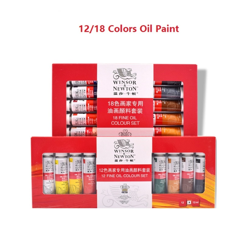цена на WINSOR&NEWTON 12/18 colours oil colors paints ART fine painting supplies 12ml/piece