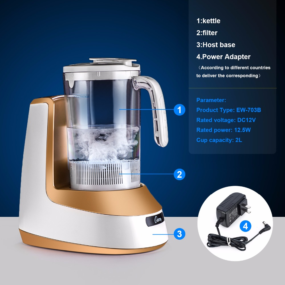 Hydrogen Water Generator Hydrogen Water Maker Alkaline Water Ionizer Kettle 2000ml HEALTH CARE PRODUCT 100-240V new arrival hydrogen generator hydrogen rich water machine hydrogen generating maker water filters ionizer 2 0l 100 240v 5w hot