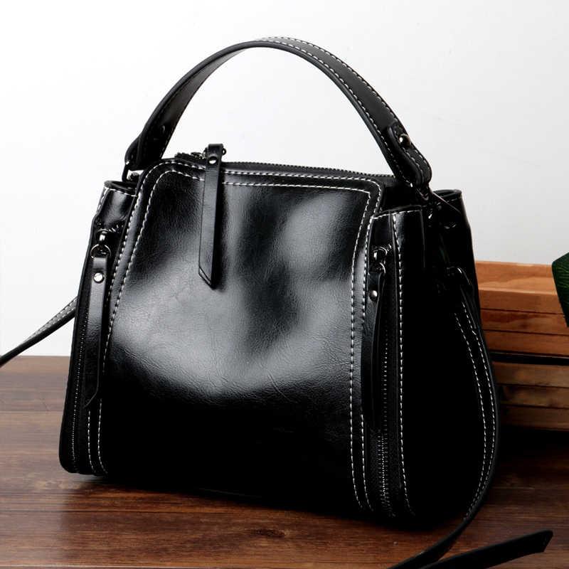 fd15428e4fa4 Luxury 100% Genuine Leather Women Messenger Bags Real Leather Women  Shoulder Bags Brand Designer Handbags