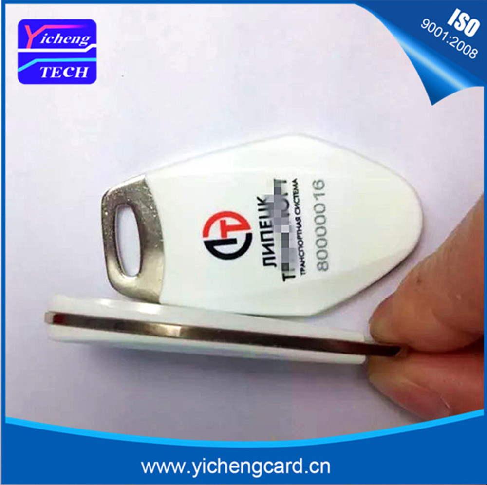 New arrival 100pcs/lot 13.56MHz RFID IC Key Tags Keyfobs Token NFC TAG Keychain For Arduino can be with customized logo printing free shipping 1000pcs lot factory price cmyk customized printing pvc combo card die cut key tag with qr barcode