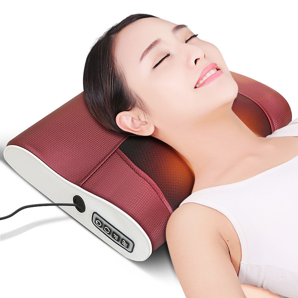 Multi-function neck massager promotes blood circulation shoulder back massager far infrared treatment home electric pillowMulti-function neck massager promotes blood circulation shoulder back massager far infrared treatment home electric pillow