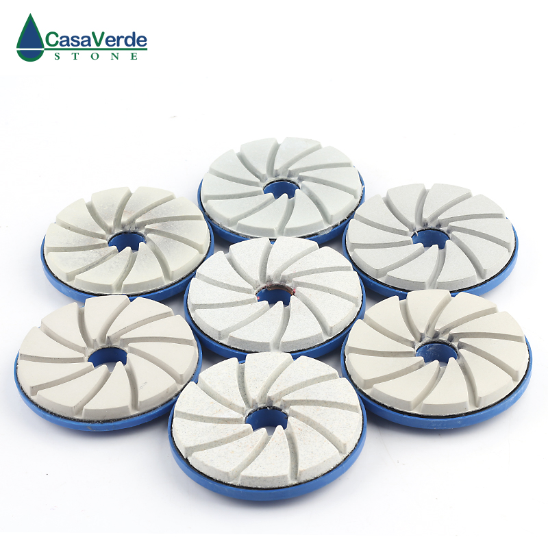 DC SEGPP02 5 inch diamond edge polishing pads 5mm thickness wet polishing wheel for granite concrete