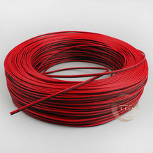 1m 2m 3m 4m 5m 10m 20m/pcs 22AWG, 2 pin Red Black cable, PVC insulated wire, 22 awg wire Electric cable, LED cable, DIY Connect(China)