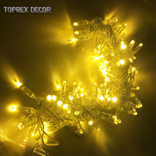 Toprex 10m Gold emitting colour LED string lights christmas decoration party light holiday fairy lights wedding decoration