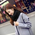 Venda quente 2016 Novo Estilo de Moda Unissex Inverno Cachecóis De Malha lã Collar Neck Warmer Anel Mulher Cachecol Cor Sólida 18 cores