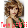 Short Curly Blonde Wig African American Short Wigs For Black/White Women Natural Cheap Hair Wig High Quality Ladies Wigs