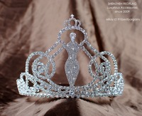 Fairy Princess Tiara Wedding Bridal Crown Handmade Clear Crystal Rhinestone Women Headband Beauty Pageant Party Costumes Jewelry