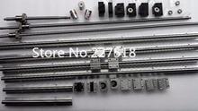 6 ensembles rail linéaire SBR16 L300/1500/1300mm + SFU1605-1350/1550/1550/350mm vis à billes + 4 BK12/BF12 + 4 DSG16H écrou + 4 Coupleur pour cnc