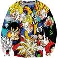 Héroes de Anime 3D sudadera hombre mujer de manga larga prendas de vestir exteriores One Piece Luffy / Dragon Ball Z Goku sudaderas DBZ cuello redondo suéteres