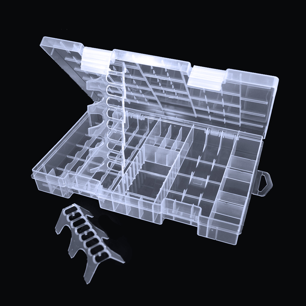 1 Pcs Transparent Useful Battery Box For AAA/AA/C/D/9V Battery Storage