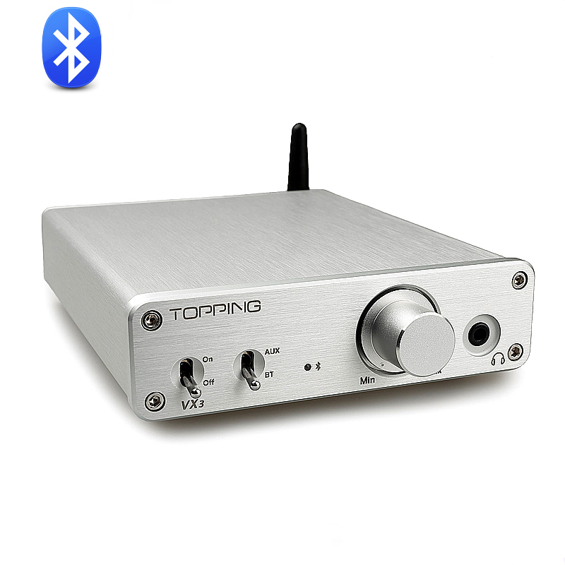 Topping VX3 TPA3116D2 35W *2 Class D Hifi Digital Audio Power Amplifier Wireless Bluetooth 4.0 Mini Home Headphone AMP topping vx3 amp hifi power stereo amplifier 35w 2 class d digital audio headphone wireless bluetooth 4 0