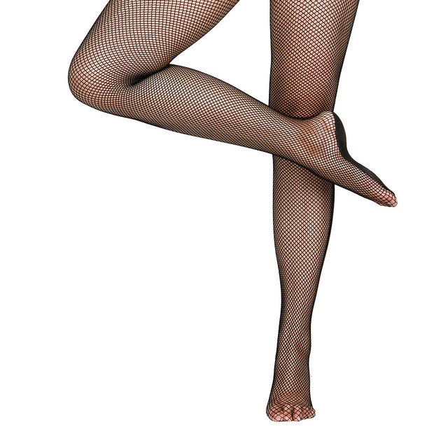 a7a903532a0 Nylon Spandex Professional Fishnet Stockings Excellent Elastic Pantyhose  with Thick Skid Sole Ballroom Latin Fishnet Tights