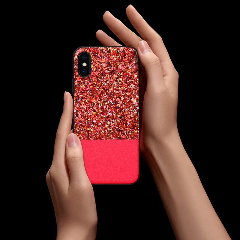 New Arrival Bling TPU+PC Shockproof Case Cover for iPhone X 6 7 8 Plus for Samsung Galaxy Note 8 S8 S9 Plus Phone Accessories