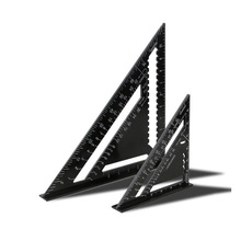 7 inch aluminum square ruler triangle ruler precision engineer carpenter tool measurement ruler angle protractor цена