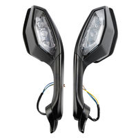 Motorcycle Rearview Side Mirrors LED Turn Signal Light  4