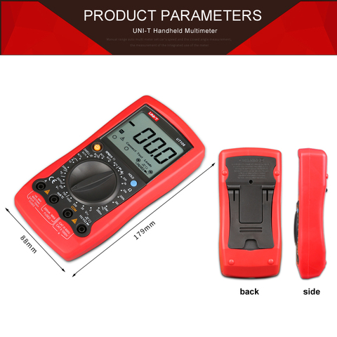 UNI-T UT107 LCD Automotive Handheld Multimeter  AC/DC voltmeter Tester Meters with DWELL,RPM,Battery Check Multan