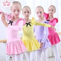 Children Dance Long Sleeve Girls Ballet Dress Professional Ballet Tutus