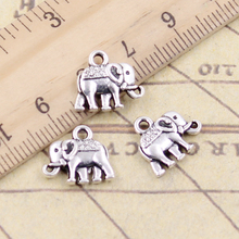 Charms elephant 60pcs 13*12mm No.GQ05514 Free Shipping DIY Retro Jewelry Braclet Necklace Antique silver pendant