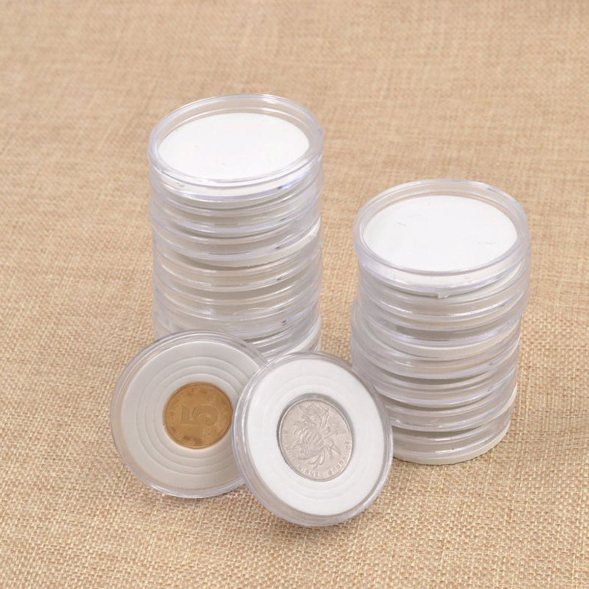 Пластиковая капсула круглый