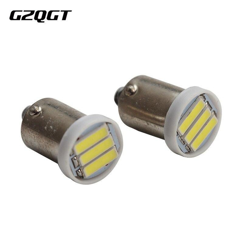 10 шт. BA9S LED 3 SMD 7020 3SMD 7014 LED T4W 1895 холодный белый клиновидный для салона лампы Автомобильные светодиодные лампы 12 В