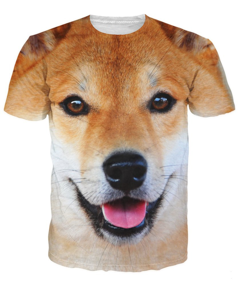 Encouraging Summer T Shirt Shiba Inu Dog Ny Animal Print Womenmen S Tee Streetwear