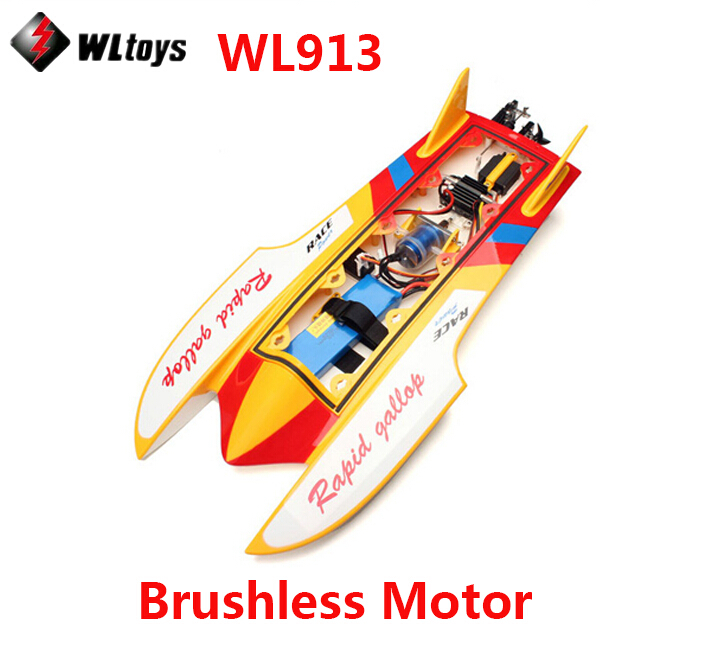 Good children's toy WLtoys WL913 Brushless motor Boat Water Cooling High Speed Racing RC Boat with Loop Water Cooling System leopard water cooling device lb36wcj 40mm 3640 boat water cooled brushless motorfreeshipping