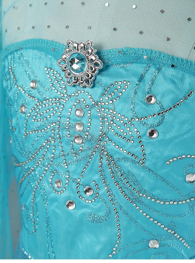 HTB13gsrmtbJ8KJjy1zjq6yqapXaD 2019 Elsa Dresses For Girls Princess Anna Elsa Costumes Party Cosplay Elza Vestidos Hair Accessory Set Children Girls Clothing