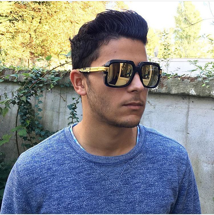 Männer Frauen Trend Retro Platz Outdoor Sonnenbrille Luxus Hohe - Bekleidungszubehör - Foto 1