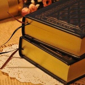 Image 5 - 416 páginas de espessura vintage em relevo xadrez retro notebooks alívio europeu antigo ouro capa dura notebook leiteria