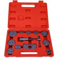 High Quality Multifunctional Hand Tools Automotive Brake Compressor Brake Pad Toolbox Repair Tool Set 12PCS
