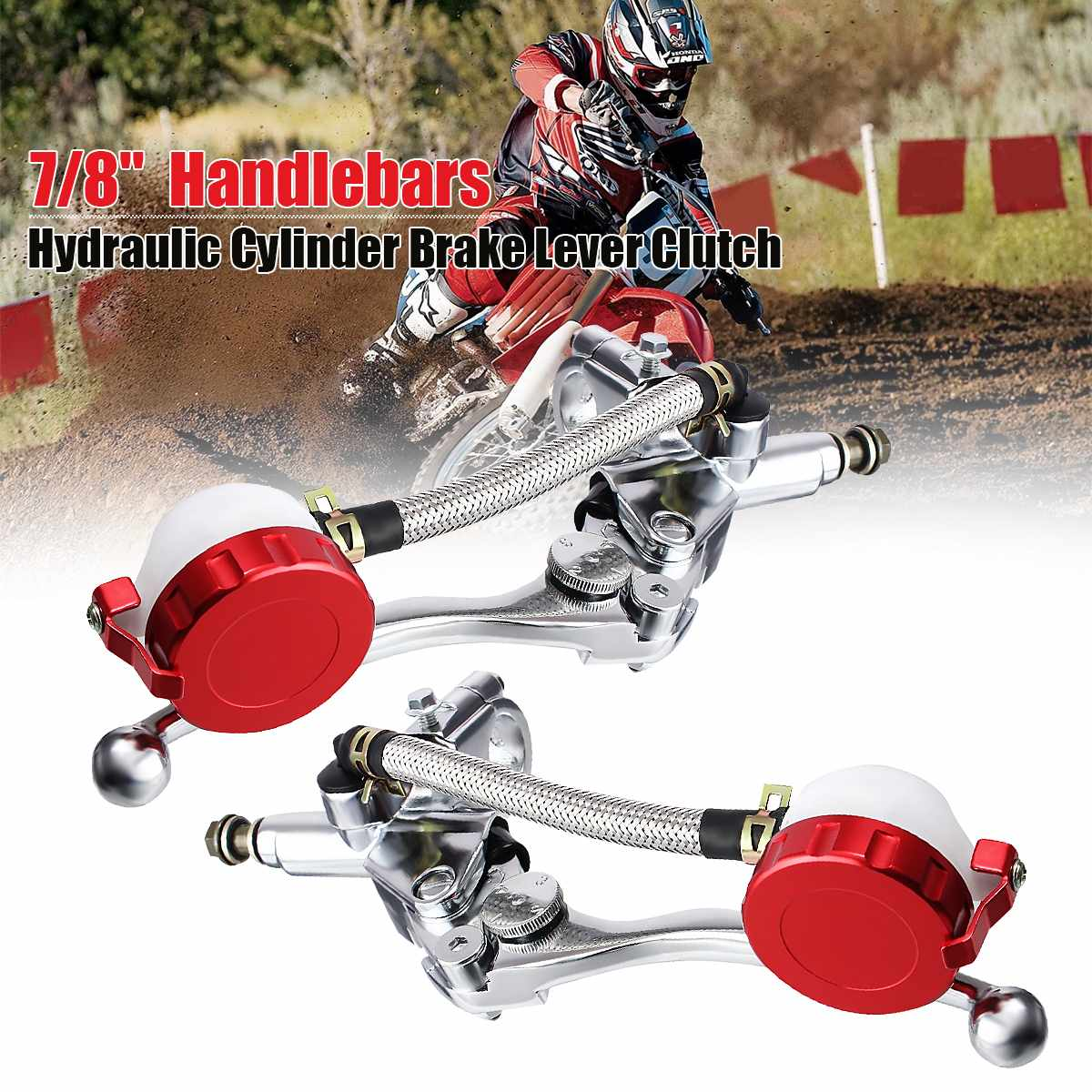 1Piece Universal 7/8'' 17mm Motorcycle Scooter Dirt Bike Hydraulic Brake Clutch Lever Master Cylinder For Honda/Suzuki/Yamaha(China)