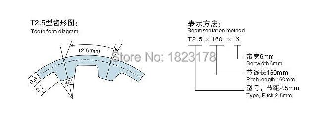 Free shipping 10meters/lot T2.5 Timing belt width 6mm T2.5 6MM  PU openg belt for RepRap Prusa Mendel Huxley CNC Robotics 4