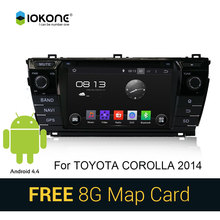 Free SD card Android 4.4 Car DVD CD Stereo Player For Toyota Corolla 2014 with Autoradio 3G WIFI Bluetooth GPS SWC Touch Screen
