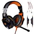Over-ear Auriculares de Juegos, diadema Auricular auriculares con Micrófono Estéreo Bajo de Luz LED para el Juego de ordenador Envío gratis