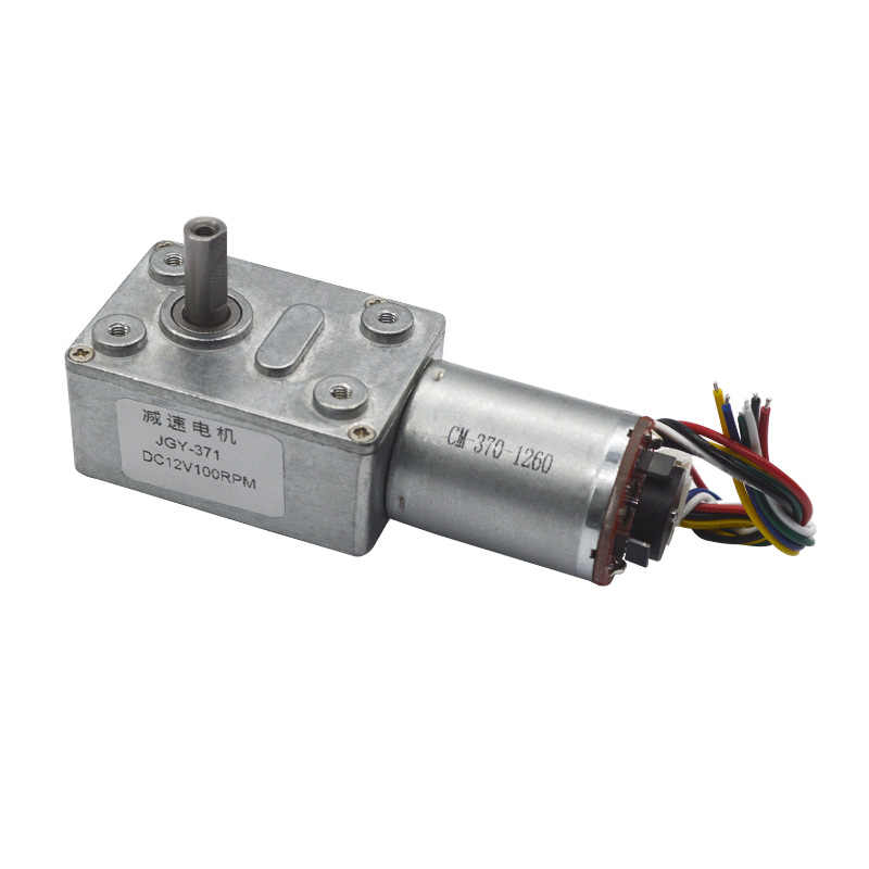 40: 1 מתכת מפחית גבוהה מומנט Gearmotors עם 11 PPR מקודד 6V 12V 24V DC ציוד תולעת מנוע עבור חכם שליטה