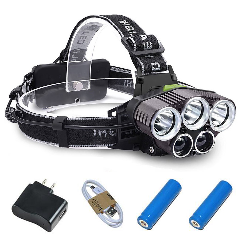 6 Modes a Powerful Rechargeable USB LED Headlamp Waterproof Head Lantern T6 and Q5 Patrol Light Super Power LED Head Lamp