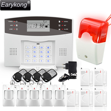 Новинка 2017 года earykong Беспроводной GSM сигнализация Системы ЖК-дисплей клавиатура двери Winodw PIR Сенсор сигнализации M2B
