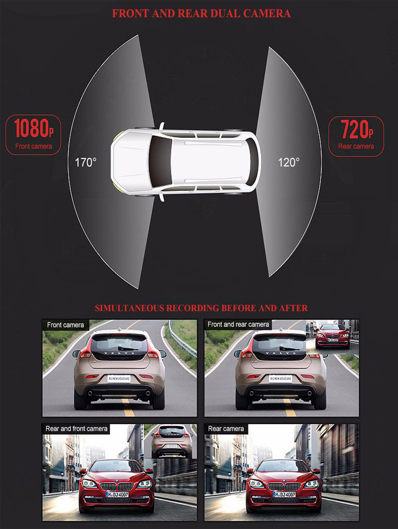 Автомобильный видеорегистратор зеркало Jiluxing 1080P