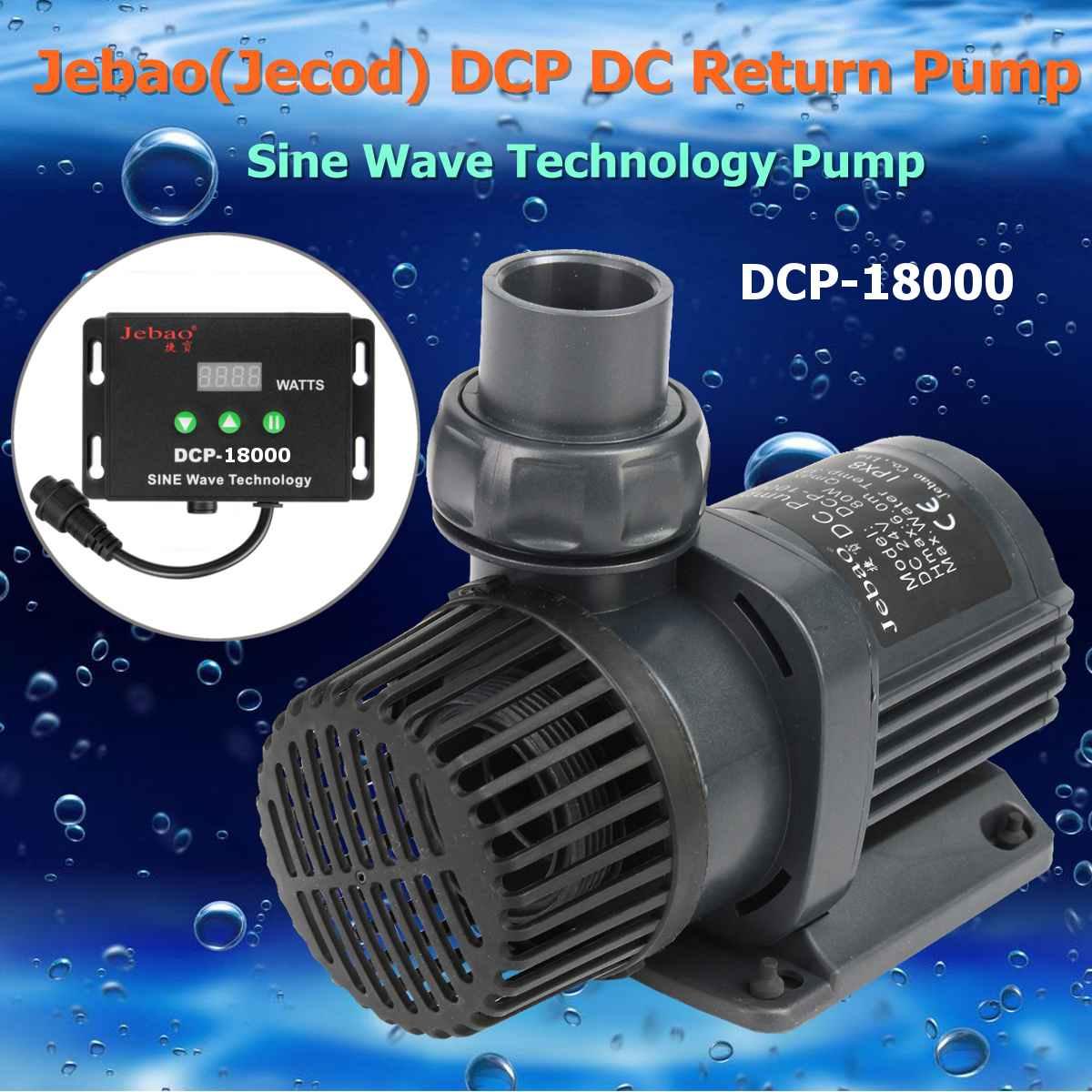 Jebao/jecod dcp série 3500-20000 maring taxa de fluxo dc onda senoidal retorno bomba de água submersível