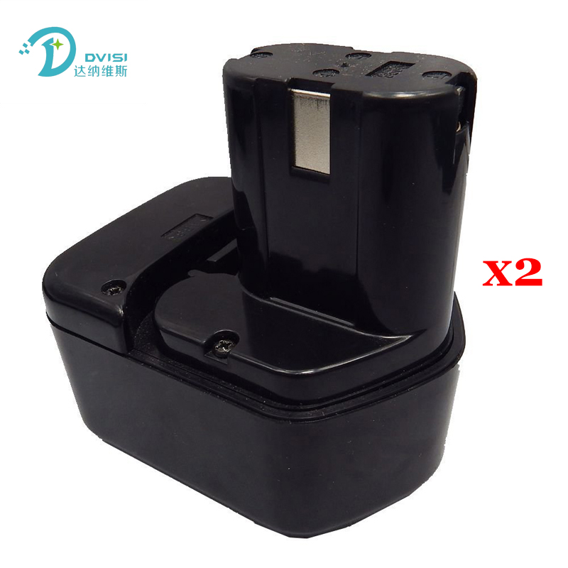 2pcs 12V NI-CD 2000mAh Replacement for HITACHI Rechargeable Power Tool Battery EB1212S EB1220HL EB1220 EB1214S EB1230X EB1233X 2000 mah ni cd 18 v replacement power tool battery for craftsman 1109811103 223310 9 11103 11306 11307 11312 11313 11318 27199