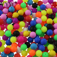 100PCs/Bag 10mm 12mm Food Grade Silicone Teething Beads for Baby DIY Necklace Bracelets Rubber Round Beads Baby Teether BPA Free