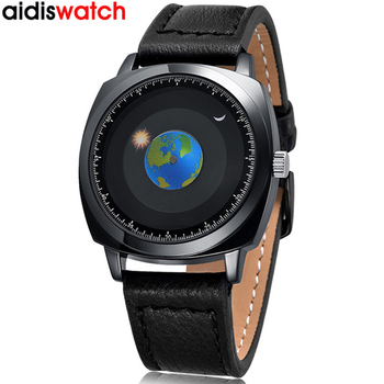 Fashion Men Watch Waterproof Unique Mens Watches Quartz Top Brand Luxury Sun Moon And Stars Bracelet Leather Band Watch Men