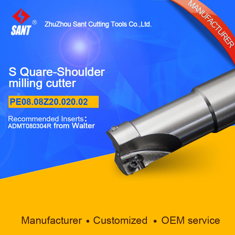 Square shoulder milling cutter Indexable Milling cutter insert ADMT080304R from Walter disc PE08.08Z20.020.02 hot selling abrod
