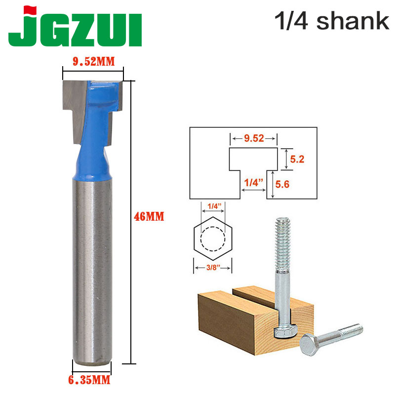 T-Slot Cutter Router Bit For 1/4