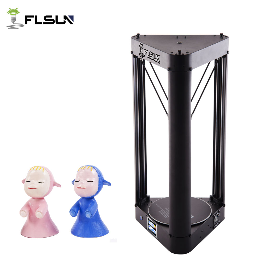 High Speed 3D Printer Flsun QQ Pre assembly Metal Frame Lattice Glass Large Printing Area 260*260*370mm Touch Screen Wifi