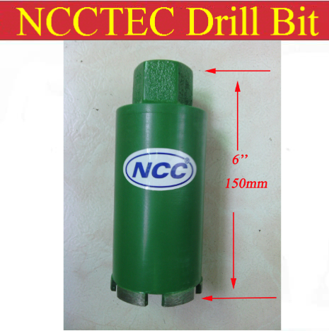 96mm*150mm short crown wet diamond drilling bits | 3.8'' concrete wall wet core bits | Professional engineering core drill